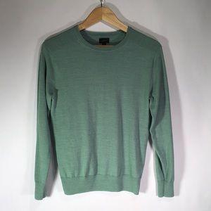 J. Crew Cotten/Linen Blend Sweater in Seafoam